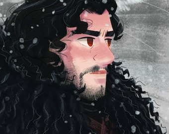 Game of Thrones Art Print. Jon Snow. 8x10 print