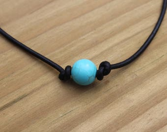 Single Bead Turquoise Necklace