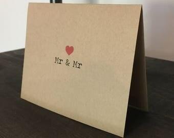 Gay Wedding Engagement Card / Gay Wedding Card / Gay Wedding / Two Grooms Are Better Than One / LGBTQ Wedding / Mr Mr Card / Same sex card