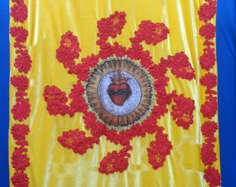 Processional Banner - Sacred heart of Jesus
