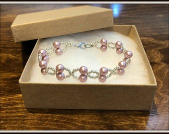 Pink Hugs and Kisses Bracelet