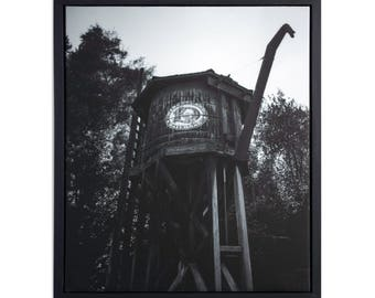 "Fine Art Photography ""Water Tower"" Framed Stretched Canvas"