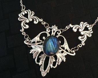 Blue fire labradorite necklace