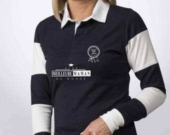 """MOM Christmas gift - Polo MOM to be personalized with your name - gift mother's day - MOM gift idea """"Voted best MOM..."""""""