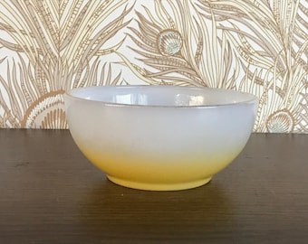 Vintage Fire King Yellow Fade Bowl, Yellow Ombre Bowl