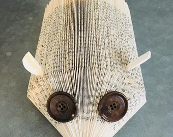 Hedgehog made book folded