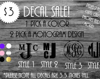 Decal Sale!