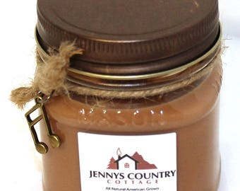 Chocolate Scented Soy Candle - 8 Oz. Mason Jar