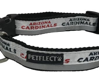 Arizona Cardinals Reflective Dog Collar