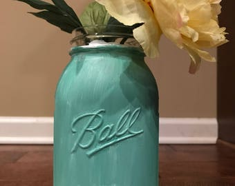 Rustic floral vase jar