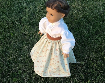 Civil War Skirt/Blouse Outfit for 18'' dolls like American Girl Addy Marie Grace