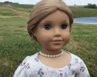 Pearl Necklace in Ivory for 18'' dolls like American Girl Felicity Elizabeth