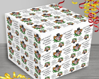 Personalized Scary Clown Wrapping Paper