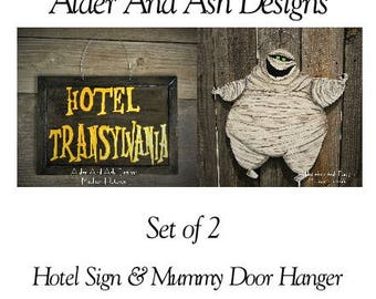 Hotel transylvania etsy for Hotel door decor
