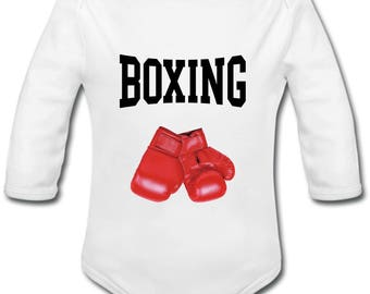 Onesie personalized boxing gloves - name option