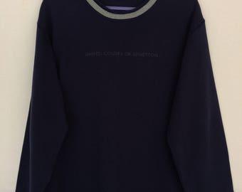Rare!! United Colors Of Benetton Spellout Sweatshirt