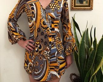 Groovy vintage 60s mod mini dress