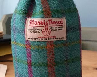 Harris Tweed Bottle Bag with coordinating lining