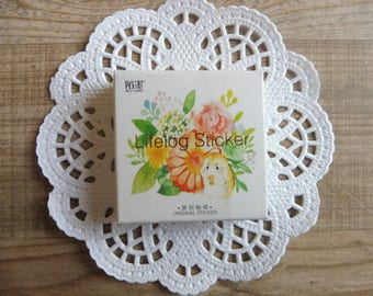 Stickers 45-piece set in assorted designs flowers (6)