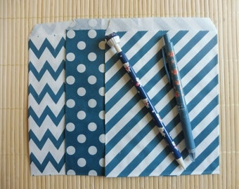 Paper bags 10 piece set Middy Bitty blue 3 Chevron patterns listed here