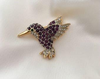 Hummingbird brooch