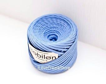 Cornflower t-shirt yarn Bobilon cotton yarn Yarn for bags Yarn for pouffes Fabric yarn Chunky cotton yarn