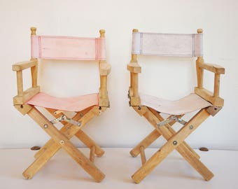 Pair of Chair folding vintage kids canvas