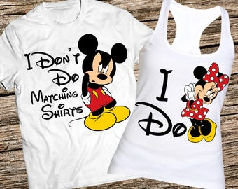 Funny disney couple tanks, I dont do matching tanks, I don't do matching tank top, Mickey and Minnie couple tank top Disney couple tank tops