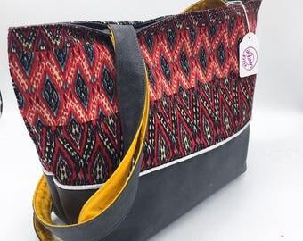 unique faux leather tote bag (medium)