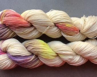 CORRIEDALE wool hand-dyed 100 grams 200 meters JUPITER