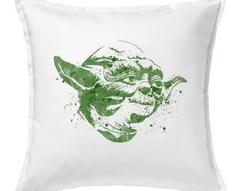 Yoda pillowcase, Yoda cushions, Yoda home decor, Yoda  gifts, Star Wars gift