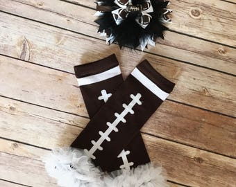 Baby leg warmers - football leg warmers