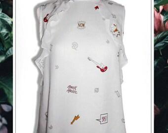 Lace blouse 'musique'