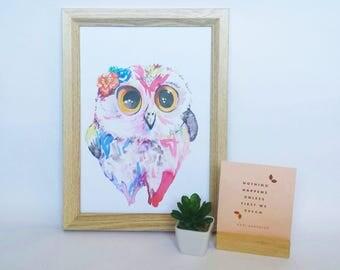 Olivia Owl - Art Print