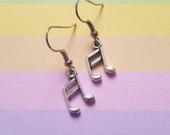 Musical notes earrings, Musical earrings, Music earrings, Musical notes, Notes, Music, Musician gift, Music lover gift