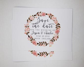 Save the Date Wreath Design Printable