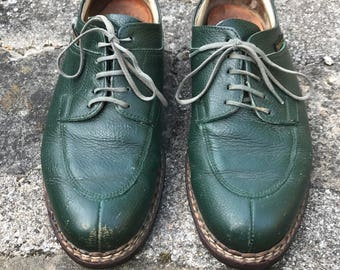 french shoes Christian Pellet. Shoes size 38 derby green leather