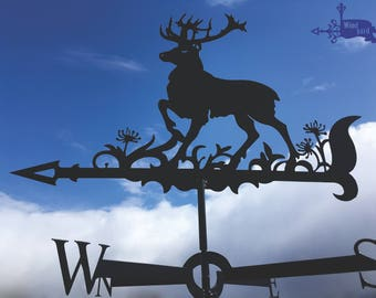 DEER 1 Metal Plasmacut Wind Direction Roof Decor
