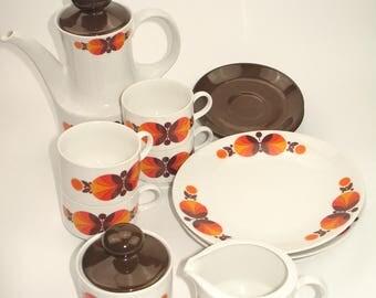 """Original 70s coffee service from """"Mitterteich"""""""