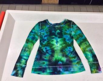 Large ice dyed long sleeve t shirt