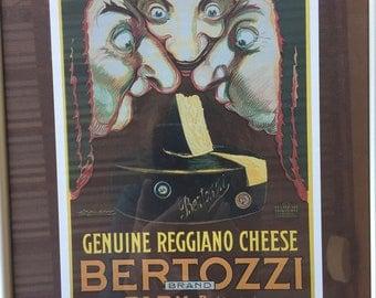 "Vintage Postcard Framed ""Bertozzi"" Parma (Italy)"