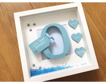 New baby gift etsy new baby gift personalised baby present new baby decoration christening frame first negle Gallery