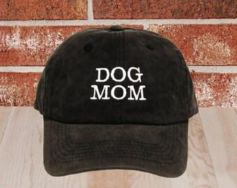Dog Mom Embroidered Baseball Cap, Dog Mom Trucker Cap, Unisex Baseball Cap