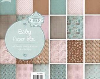 Block of 48 paper 15 x 30 cm CRAFTS BABY JOY