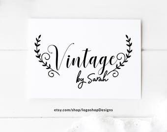 Vintage Logo, Premade Logo, Store Logo, Business Logo, Boutique Logo, Blogger Logo, Photographer Logo, Clothing Logo, Designer Logo, 066