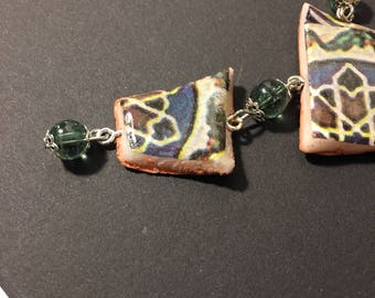 Majolica Jewels-hand painted majolica necklace