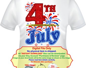 Fourth of July, iron on, 4th of July, shirt Iron On, DIY 4th of July, Independence Day, My First 4th of July - 4THOFJULY