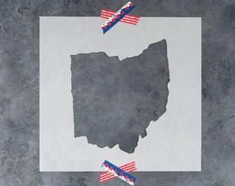 Ohio State Stencil - Hand Drawn Reusable Mylar Stencil Template