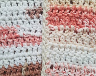Crocheted cotton wash cloth