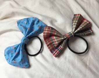 patterned hair bows